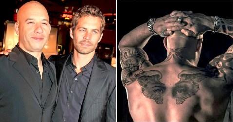 Image result for vin diesel shows off paul walker tattoo