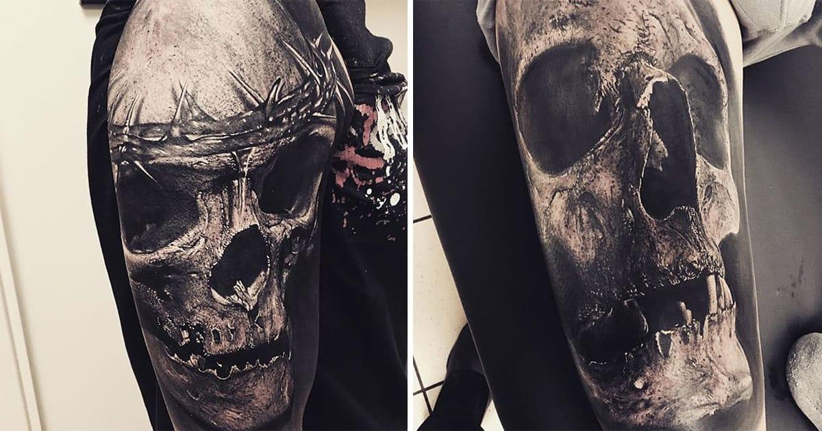 Painting Pile Skulls