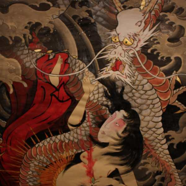 Traditional Japanese Dragon Paintings
