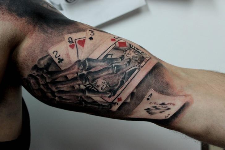 15 High Class Playing Card Tattoos Tattoodo