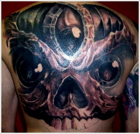 bad ass evil tattoo design