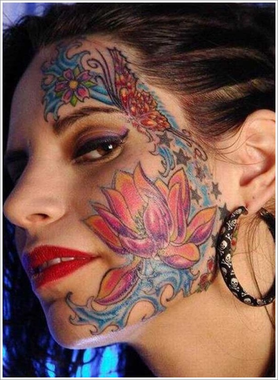 jaw dropping face tattoos