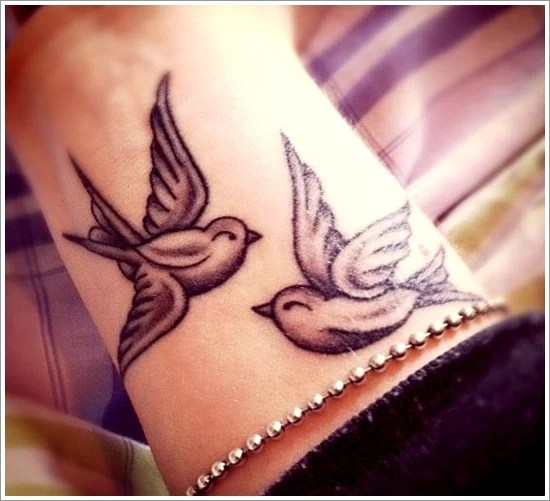 beautiful bird tattoo design