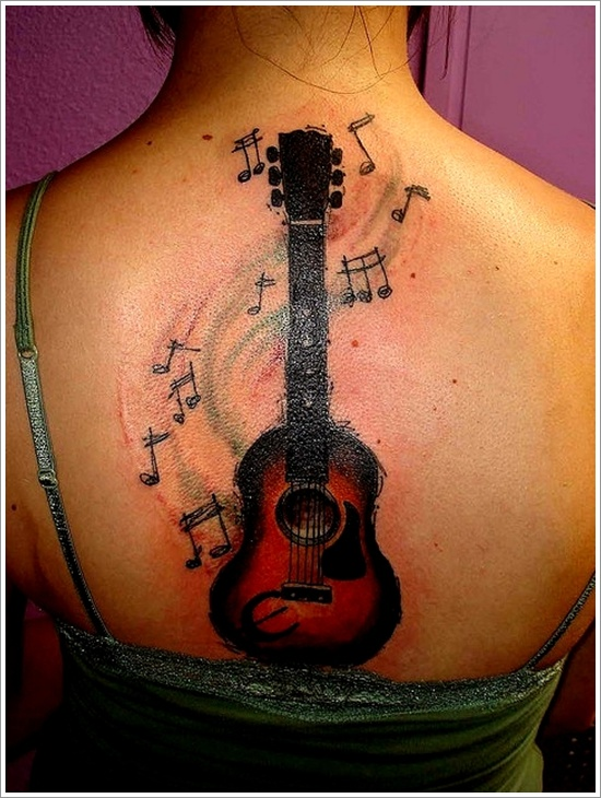 20 Acoustic Guitar Tribal Tattoos For Men Ideas And Designs