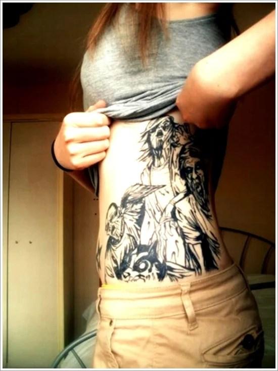 zombie tattoo design scare