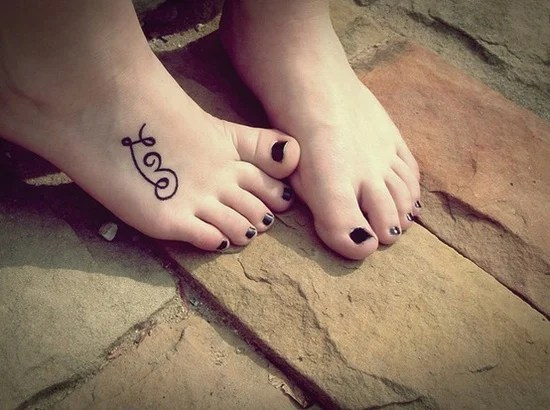 Cool Foot And Flip Flop Tattoos