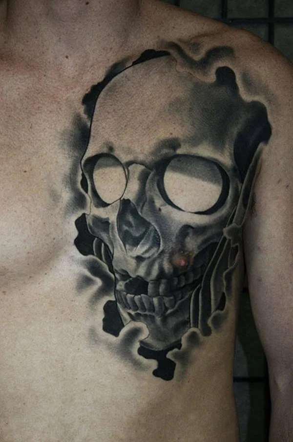 gnarly skull tattoos
