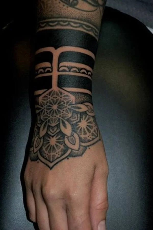 grand sacred geometry tattoo