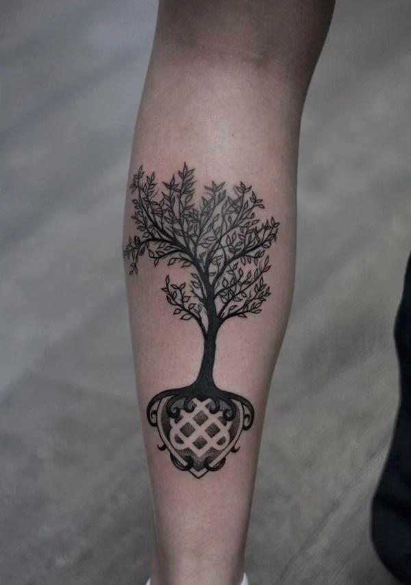 tree tattoos paint