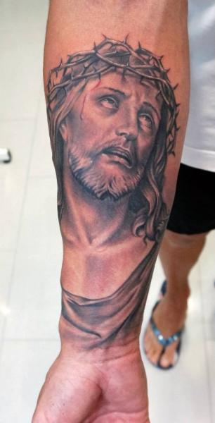 Tatuaje Brazo Religioso Por Astin Tattoo