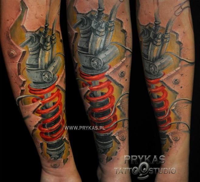 Tatuajes Biomecanicos En La Pierna 3d Tatuajes