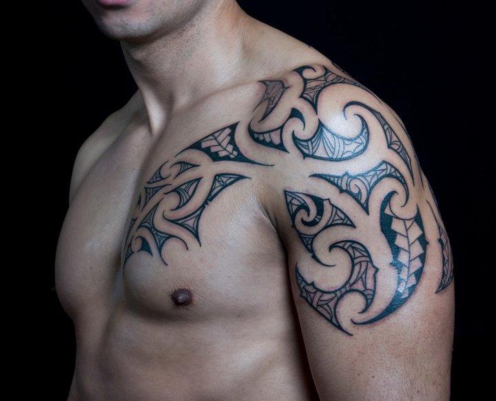 Tatuaje Hombro Pecho Tribal Por C Jay Tattoo