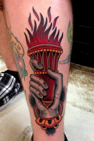 20 Shin Old School Tattoos Ideas And Designs
