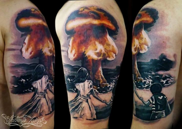 Fall Out Boy Symbol Wallpaper Shoulder Bomb Nuclear Tattoo By Tattoo Rascal