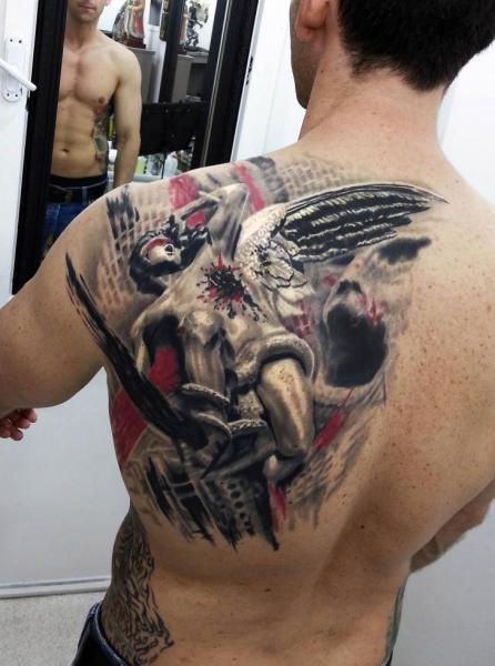 Tatuaje Hombro Espalda Por Kronik Tattoo