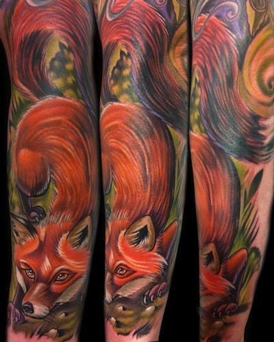 Tatuaje Brazo Zorro Por Vince Villalvazo