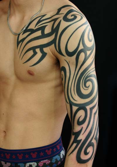 Tatuaje Hombro Tribal Manga Por Van Tattoo Studio