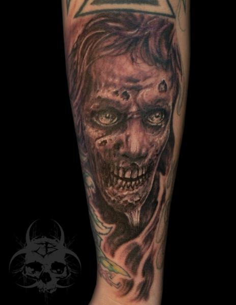 Tatuaje Brazo Zombi Por Jeremiah Barba
