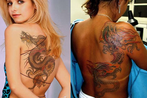 Dragon Tattoos For Women Back