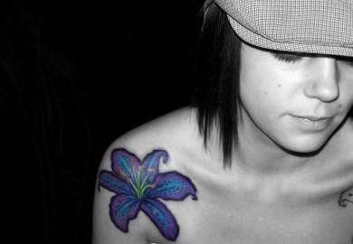 Hip Flower Tattoo Designs