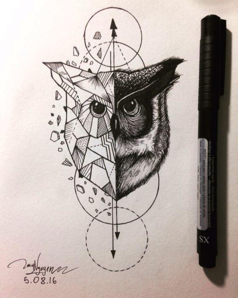 TattooMix Dövmecim baykuş owl dövmeleri (10)