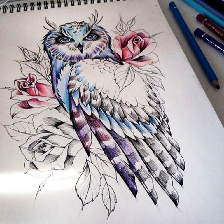 TattooMix Dövmecim baykuş owl dövmeleri (5)