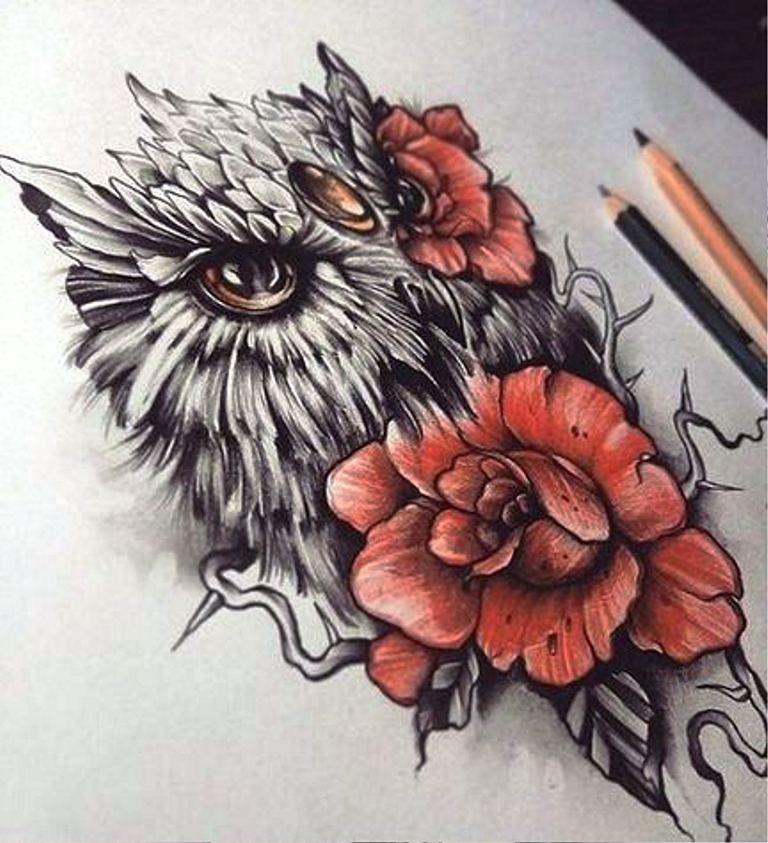 TattooMix Dövmecim baykuş owl dövmeleri (8)