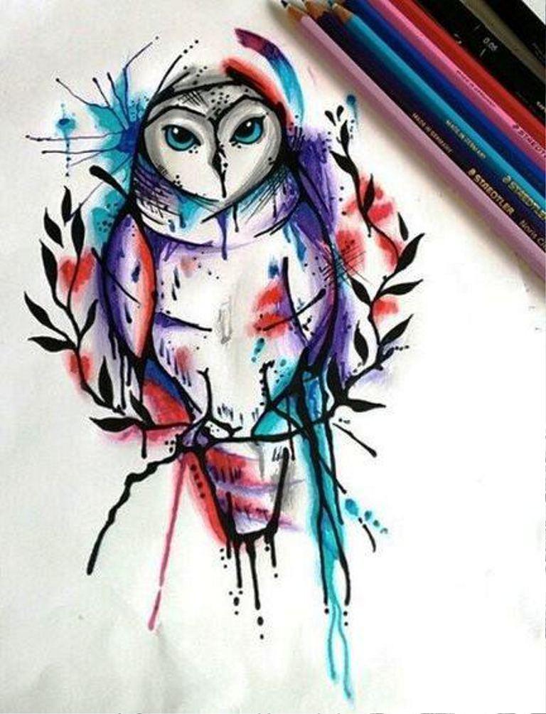 TattooMix Dövmecim baykuş owl dövmeleri (9)