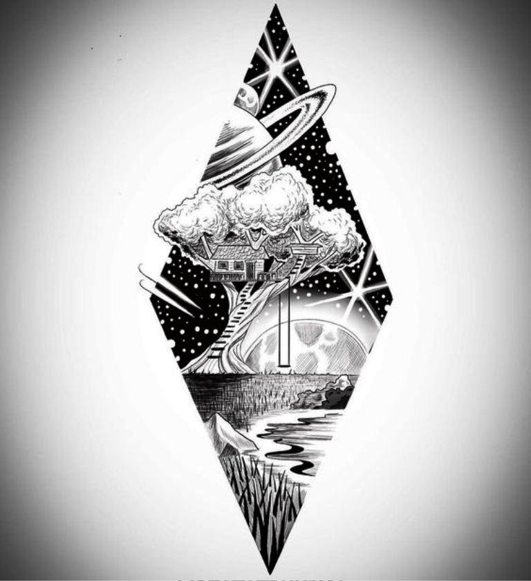 TattooMix Dövmecim gezegen uzay dövmeleri (12)