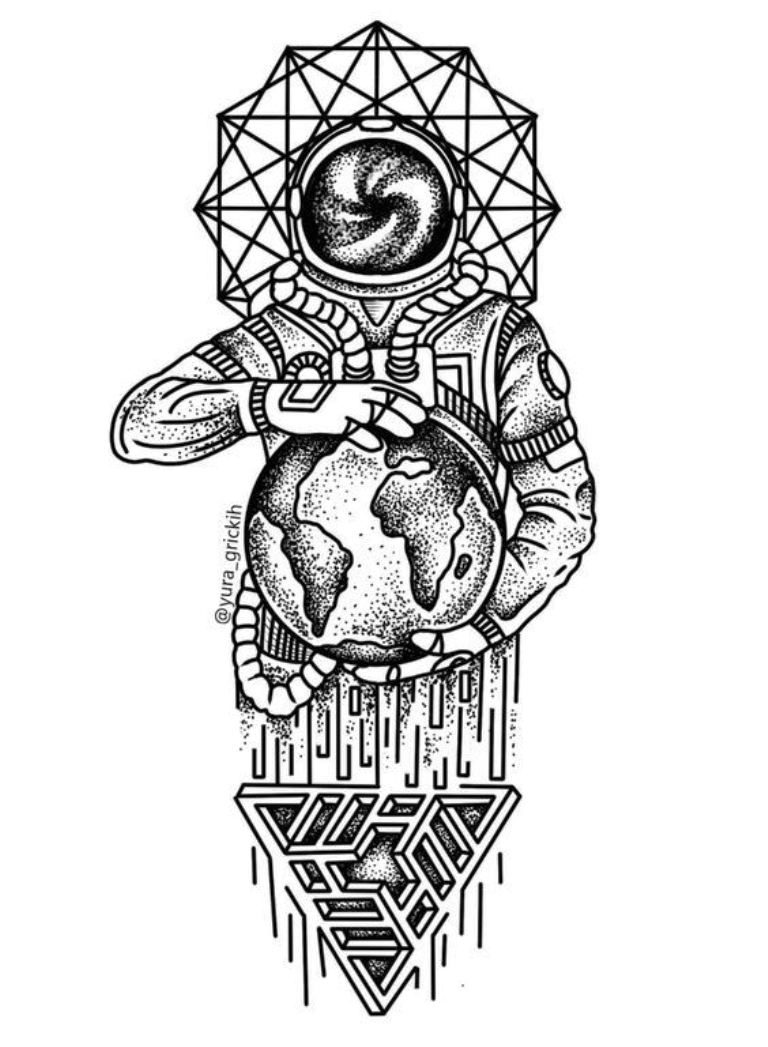 TattooMix Dövmecim gezegen uzay dövmeleri (8)
