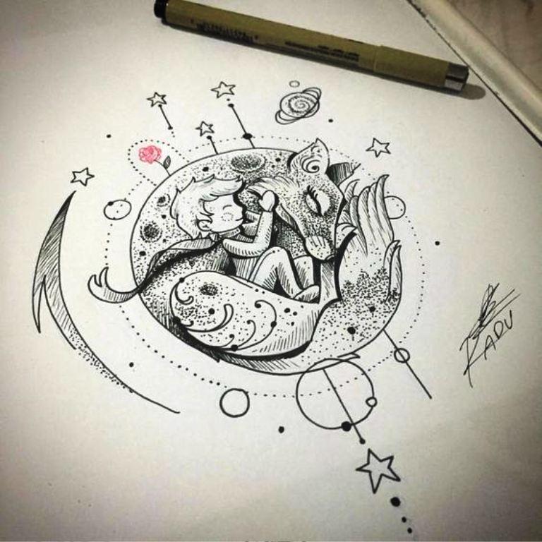 TattooMix Dövmecim küçük prens dövmeleri (3)