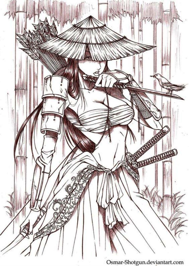 TattooMix Dövmecim samurai geyşa dövmeleri (19)