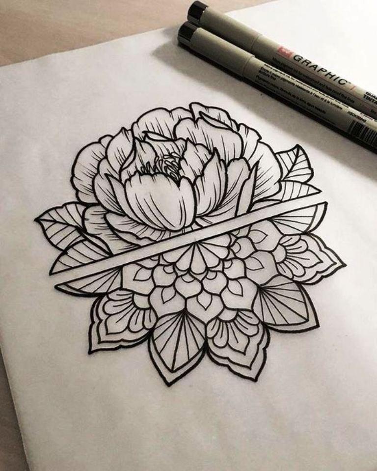 tattoo mix dövmecim çiçek dövmeleri (11)