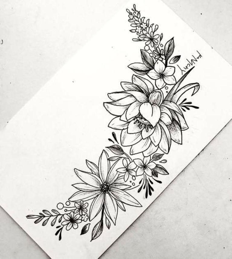 tattoo mix dövmecim çiçek dövmeleri (4)