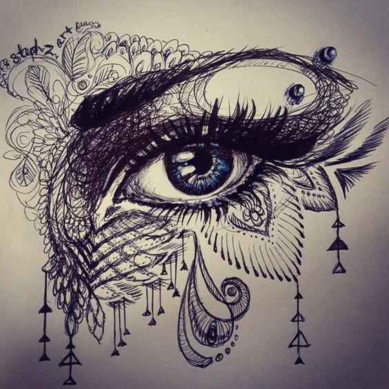tattoo mix dövmecim GÖZ DÖVMELERİ (2)
