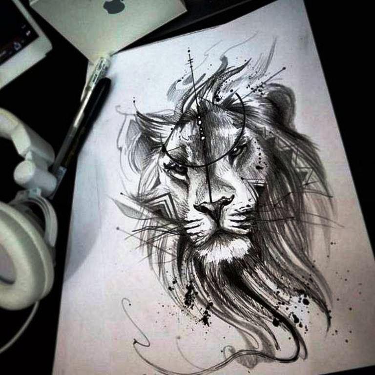 tattoo mix dövmecim aslan dövmeleri (7)