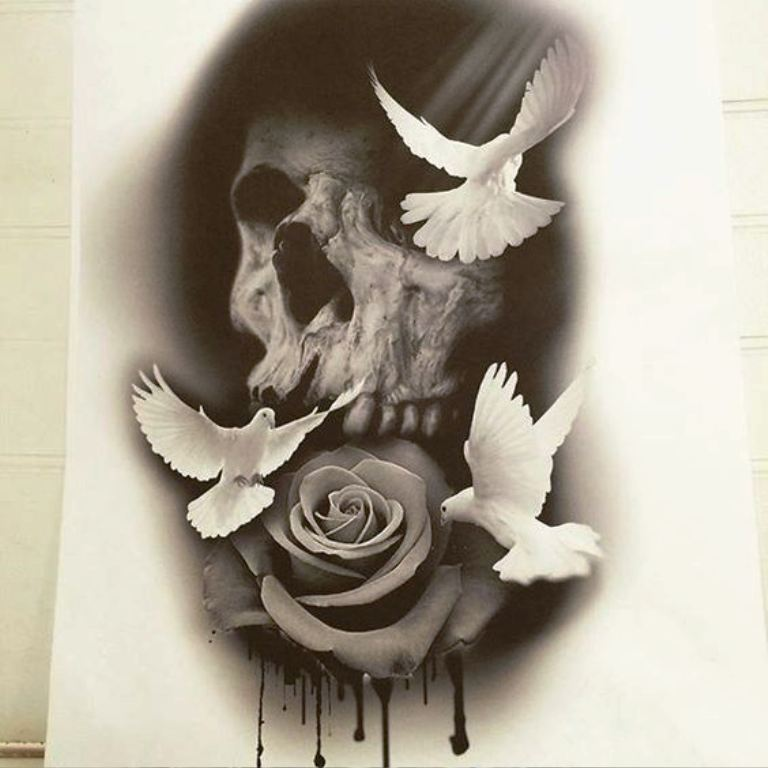tattoo mix dövmecim kurukafa skull dövmeleri (19)