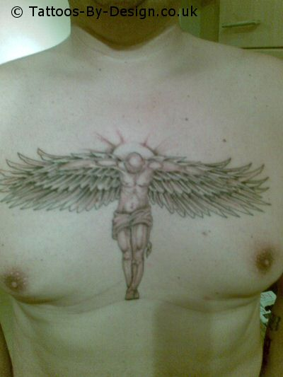 Dark Angel Girl Tattoo. Are you want this tattoo?