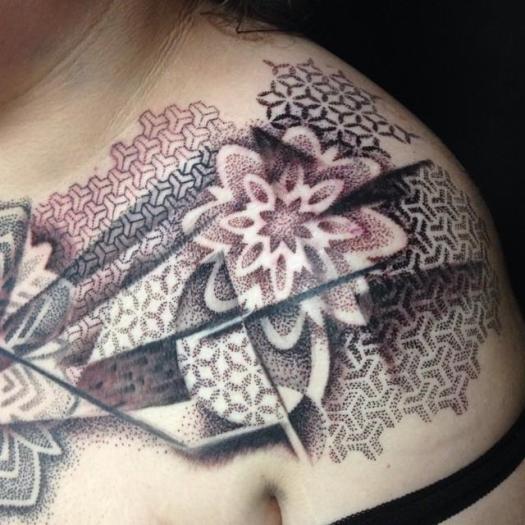 Blackwork Shoulder Tattoo by Cory Ferguson: TattooNOW