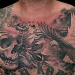Skull Dove And Olive Branch By Jose Perez Jr Tattoonow
