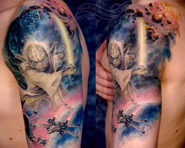 Star Wars Movie Sleeve Tattoo By Oleg Turyanskiy Tattoonow