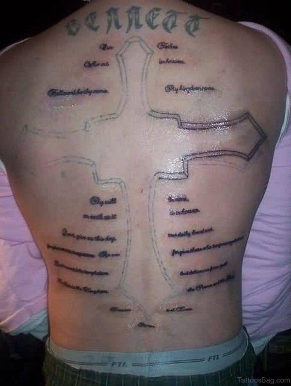 stylish cross tattoos