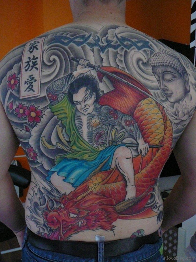 43 Alluring Japanese Samurai Tattoos For Back