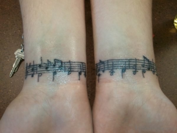 Music Tattoo Designs For Men On Wrist