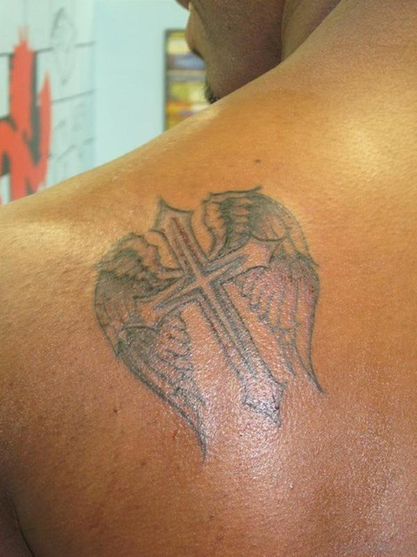 20 Wing Cross Tattoos Small Simple Ideas And Designs