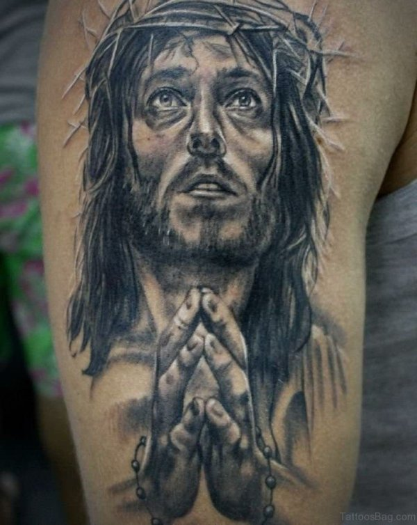 20 Black Jesus Tattoos Shoulder Ideas And Designs