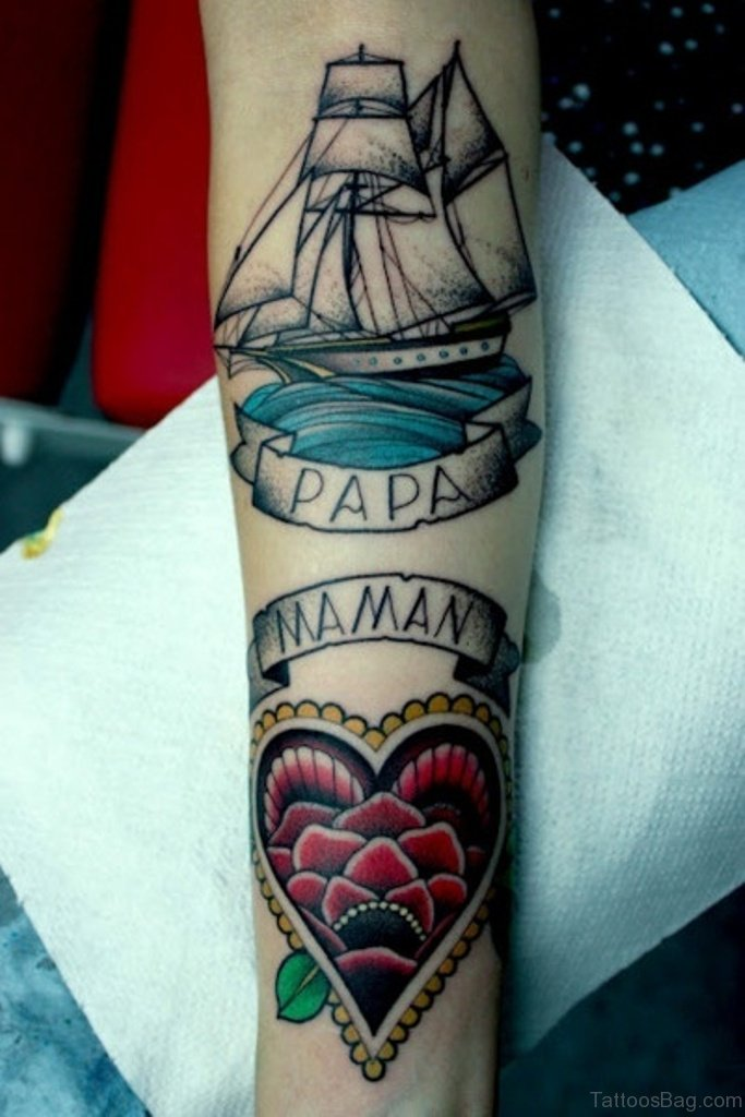 Mom Dad Tattoo On Hand For Girl