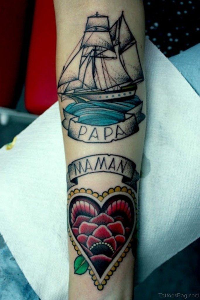 I Love Mom Dad Tattoo Image