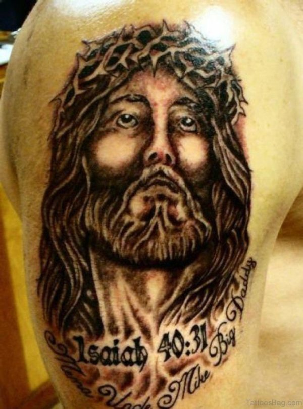 20 Shoulder Jesus Tattoos Crown Ideas And Designs