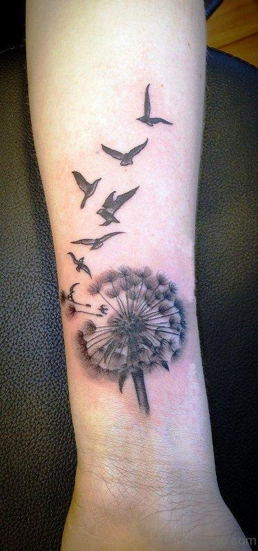 32 Lovely Dandelion Tattoos On Wrist